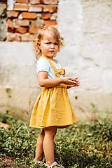 Detské oblečenie - Ľanová sukňa s mašličkami - 11562201_