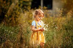 Detské oblečenie - Ľanová sukňa s mašličkami - 11562202_