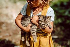Detské oblečenie - Ľanová sukňa s mašličkami - 11562205_