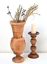 Dekorácie - Drevená váza-natur - 11563514_