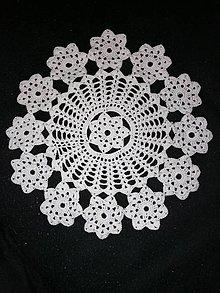 Úžitkový textil - Háčkované dečky (okrúhla priemer 30 cm) - 11564986_
