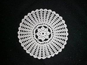Úžitkový textil - Háčkované dečky (okrúhla priemer 20 cm) - 11564987_
