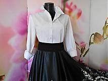 Košele - FLORAL FOLK - biela dámska košeľa - 11564809_