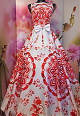 """Šaty - FLORAL FOLK """" Slovenská ornamentika """", spoločenské dlhé šaty - 11564859_"""