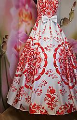 """Šaty - FLORAL FOLK """" Slovenská ornamentika """", spoločenské dlhé šaty - 11564862_"""