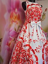 """Šaty - FLORAL FOLK """" Slovenská ornamentika """", spoločenské dlhé šaty - 11564864_"""