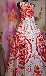 """Šaty - FLORAL FOLK """" Slovenská ornamentika """", spoločenské dlhé šaty - 11564868_"""