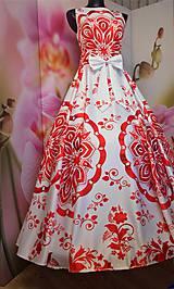 """Šaty - FLORAL FOLK """" Slovenská ornamentika """", spoločenské dlhé šaty - 11564869_"""