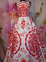"""Šaty - FLORAL FOLK """" Slovenská ornamentika """", spoločenské dlhé šaty - 11564870_"""