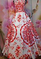 """Šaty - FLORAL FOLK """" Slovenská ornamentika """", spoločenské dlhé šaty - 11564871_"""