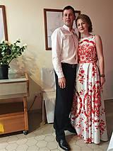 """Šaty - FLORAL FOLK """" Slovenská ornamentika """", spoločenské dlhé šaty - 11564873_"""