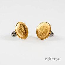 Náušnice - porcelánové náušnice | zlato, chirurgická oceľ - 11565051_
