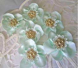 Ozdoby do vlasov - Saténové kvety - 11564315_