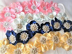 Ozdoby do vlasov - Saténové kvety - 11564633_