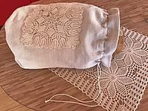XL bag na chlebík z ručne tkaného ľanu
