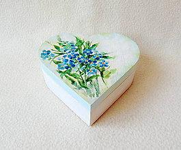 Krabičky - Drevená šperkovnica Shabby srdiečko - 11563391_
