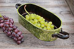 Nádoby - Forma na pečenie chleba - vinič - oválna dlhá - 11565082_
