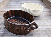 Nádoby - Forma na pečenie chleba - medená - oválna širšia - 11565166_