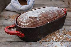 Nádoby - Forma na pečenie chleba - ohnivá - oválna dlhá - 11565198_