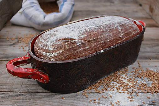 Forma na pečenie chleba - ohnivá - oválna dlhá