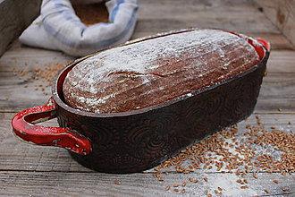 Nádoby - Forma na pečenie chleba - ohnivá - oválna dlhá - 11565197_