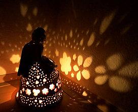"""Svietidlá a sviečky - """"Nežná"""" - anjelská aromalampa - 11562580_"""