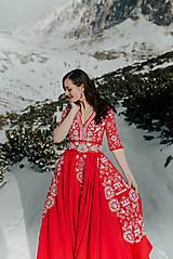 Šaty - Mini vyšívané šaty Slavianka - 11564354_
