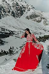 Šaty - Mini vyšívané šaty Slavianka - 11564356_