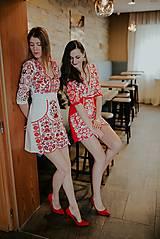 Šaty - Mini vyšívané šaty Slavianka - 11564359_