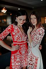 Šaty - Mini vyšívané šaty Slavianka - 11564360_