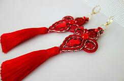 Náušnice - Luxusné červené náušnice - 11565116_