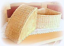 Košíky - Košík rohový v prírodnej hnedej farbe - 11563864_