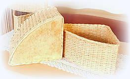 Košíky - Košík rohový v prírodnej hnedej farbe - 11563868_