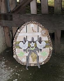 Dekorácie - Závesná dekorácia: Veľkonočné vajíčko - 11568119_