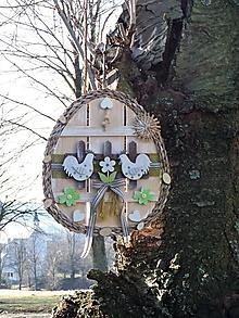 Dekorácie - Závesná dekorácia: Veľkonočné vajíčko - 11568122_