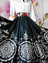 """Sukne - FLORAL FOLK """" Slovenská ornamentika """", spoločenská sukňa - 11566035_"""
