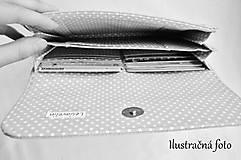 Peňaženky - Peňaženka harmoniková - Červené guličky na režnej - 11567028_