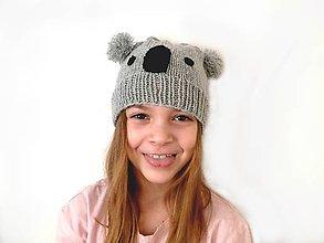 Detské čiapky - čiapka Koala - 11566657_