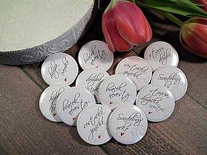 Odznaky/Brošne - Svadobné odznaky - 11566074_
