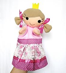 Hračky - Maňuška princezná - v sukničke s ružami - 11568023_