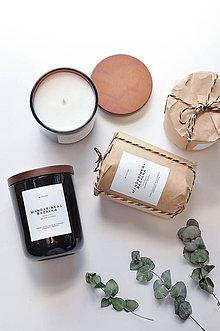 Svietidlá a sviečky - Amber No.2 - Mandarínka + Bazalka - 11568657_