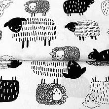 Textil - ovečky, 100 % bavlna Poľsko, šírka 160 cm - 11565691_