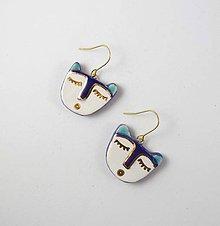 Náušnice - TANA hand made jewellery - keramika/zlato - 11567327_