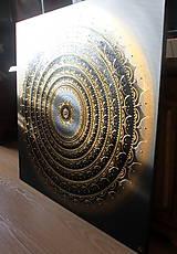 Obrazy - Mandala ÚSPECH A HOJNOSŤ (kvet šťastia) 100 x 100 - 11568529_