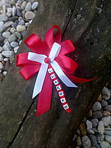 Odznaky/Brošne - Mašlička na kočík s menom. - 11565721_