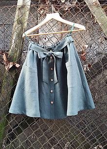 Sukne - Sukienka z ľanu - 11566059_