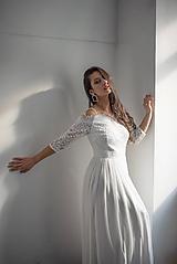 Šaty - Svadobné šaty z hrubej krajky s holými ramenami SKLADOM - 11565662_