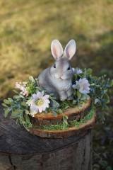 Dekorácie - Sivý zajačik - 11567570_
