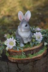 Dekorácie - Sivý zajačik - 11567578_