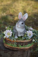 Dekorácie - Sivý zajačik - 11567582_